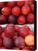 Fruit Markets Canvas Prints - European Markets - Nectarines Canvas Print by Carol Groenen
