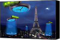 Ufo Canvas Prints - European Time Traveler Canvas Print by Mike McGlothlen