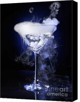 Glass Photo Canvas Prints - Exotic Drink Canvas Print by Oleksiy Maksymenko