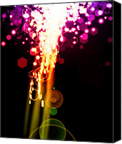 Screen Canvas Prints - Explosion Of Lights Canvas Print by Setsiri Silapasuwanchai