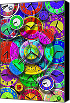 Bright Colors Canvas Prints - Faces of Time 1 Canvas Print by Mike McGlothlen