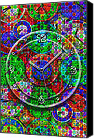 Bright Colors Canvas Prints - Faces of Time 3 Canvas Print by Mike McGlothlen