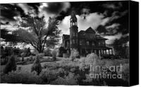 Haunted House Canvas Prints - Fairlawn Mansion Canvas Print by Phantasmagoria Photography