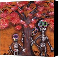 Skulls Canvas Prints - Family Tree Canvas Print by  Abril Andrade Griffith