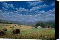 Landscapes Pastels Canvas Prints - Field of Dreams Canvas Print by Kathy Dolan