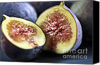 Vegetarian Canvas Prints - Figs Canvas Print by Elena Elisseeva