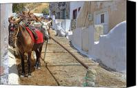 Thira Canvas Prints - Fira - Santorini Canvas Print by Joana Kruse