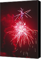 Pyrotechnics Canvas Prints - Firework Display Canvas Print by Magrath Photography