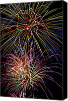 Independence Photo Canvas Prints - Fireworks Celebration Canvas Print by Garry Gay