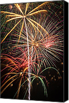 Pyrotechnics Canvas Prints - Fireworks exploding  Canvas Print by Garry Gay