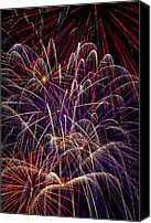 4th Canvas Prints - Fireworks Canvas Print by Garry Gay