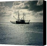 Eerie Canvas Prints - Fishing Boat Canvas Print by Joana Kruse