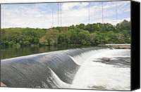 Belmont Canvas Prints - Flatrock Dam Canvas Print by Bill Cannon