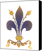 Emblematic Photo Canvas Prints - Fleur-de-lis Canvas Print by Science Source