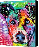Mutt Canvas Prints - Flipped Canvas Print by Dean Russo