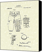 Football Drawings Canvas Prints - Football Pants 1917 Patent Art Canvas Print by Prior Art Design