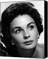 1955 Movies Canvas Prints - Footsteps In The Fog, Jean Simmons, 1955 Canvas Print by Everett