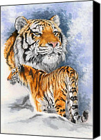 Wildcats Canvas Prints - Forceful Canvas Print by Barbara Keith