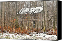 Old Abandoned House Canvas Prints - Forgotten Dreams Canvas Print by Pamela Baker