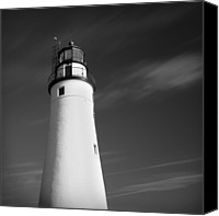 Dean Canvas Prints - Fort Gratiot Lighthouse Canvas Print by Gordon Dean II