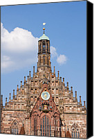 Frauenkirche Canvas Prints - Frauenkirche Church of our lady Canvas Print by Andrew  Michael