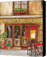 Tables Canvas Prints - French Storefront 1 Canvas Print by Debbie DeWitt
