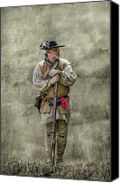 American Revolution Canvas Prints - Frontiersman Portrait Canvas Print by Randy Steele