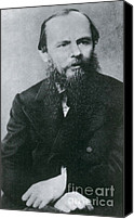 Photo-realism Photo Canvas Prints - Fyodor Dostoyevsky, Russian Author Canvas Print by Photo Researchers