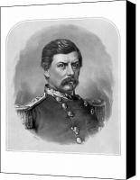 United States Drawings Canvas Prints - General George McClellan Canvas Print by War Is Hell Store