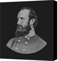 Thomas Canvas Prints - General Stonewall Jackson Canvas Print by War Is Hell Store