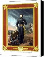 Civil War Painting Canvas Prints - General US Grant Canvas Print by War Is Hell Store