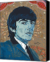 George Harrison Canvas Prints - George Harrison Canvas Print by Suzanne Gee