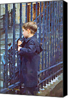 Signed Photo Canvas Prints - German Boy Canvas Print by Chuck Staley