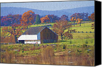 Gettysburg Canvas Prints - Gettysburg Barn Canvas Print by Bill Cannon