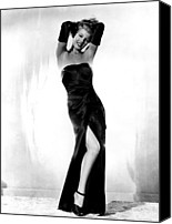 Opera Gloves Photo Canvas Prints - Gilda, Rita Hayworth, 1946 Canvas Print by Everett