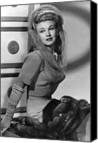 Opera Gloves Canvas Prints - Ginger Rogers, Ca. 1943 Canvas Print by Everett