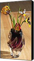 Decorating Mixed Media Canvas Prints - Glass Bouquet 1 Canvas Print by Steve Ohlsen