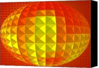 Second Chakra Canvas Prints - Golden Ellipse Canvas Print by Ramon Labusch