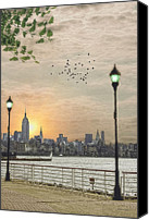 Birds In Flight Canvas Prints - Good Morning New York Canvas Print by Thomas York