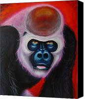 Gorilla Mixed Media Canvas Prints - Gorilla Canvas Print by Joshua South
