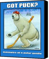 Polar Bear Canvas Prints - Got Puck Canvas Print by Will Bullas
