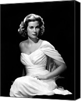 1950s Fashion Canvas Prints - Grace Kelly, 1954 Canvas Print by Everett