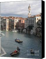Venice - Italy Canvas Prints - Gran Canal. Venice Canvas Print by Bernard Jaubert
