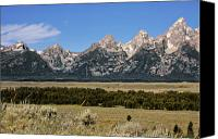 Alpine Canvas Prints - Grand Teton WY Canvas Print by Christine Till