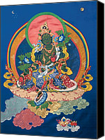 Thangka Canvas Prints - Green Tara  Canvas Print by Leslie Rinchen-Wongmo