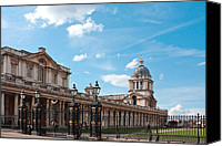 Naval College Canvas Prints - Greenwich Naval College Canvas Print by Shirley Mitchell