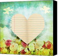 Invitation Canvas Prints - greeting card Valentine day Canvas Print by Setsiri Silapasuwanchai