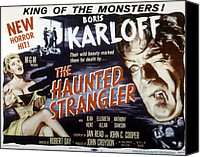 1950s Movies Canvas Prints - Grip Of The Strangler, Aka The Haunted Canvas Print by Everett