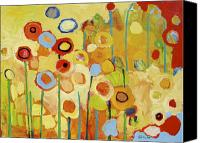 Expressionist Canvas Prints - Growing in Yellow No 2 Canvas Print by Jennifer Lommers