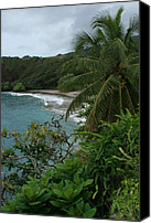 Beach Photograph Digital Art Canvas Prints - Hamoa Beach Maui Hawaii Canvas Print by Sharon Mau